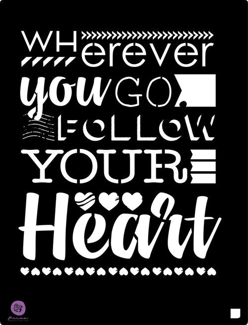 Redesign Stencil - Follow Your Heart