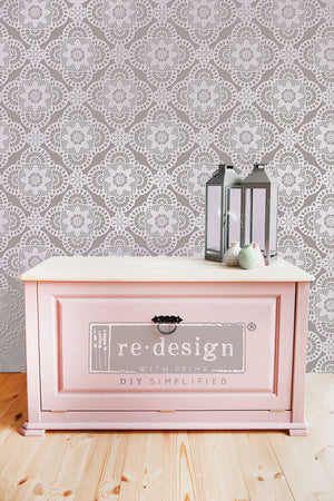Redesign Raised Stencil - Millicent Lace