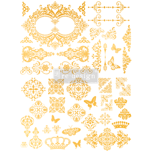 Redesign Gold Transfer - Gilded Baroque Scrollwork