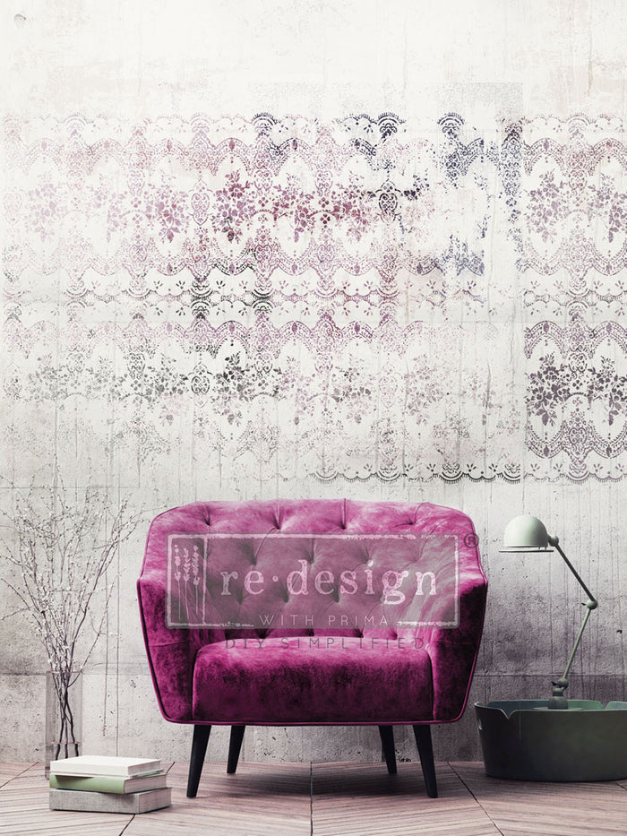 Redesign 3D Stencil - Distressed Lace