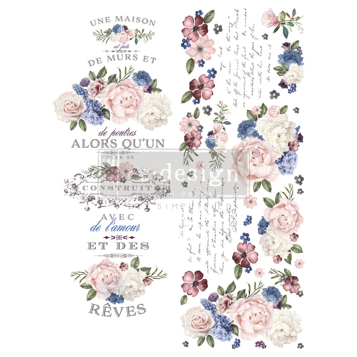 Redesign Decor Transfers - Lavender Bush