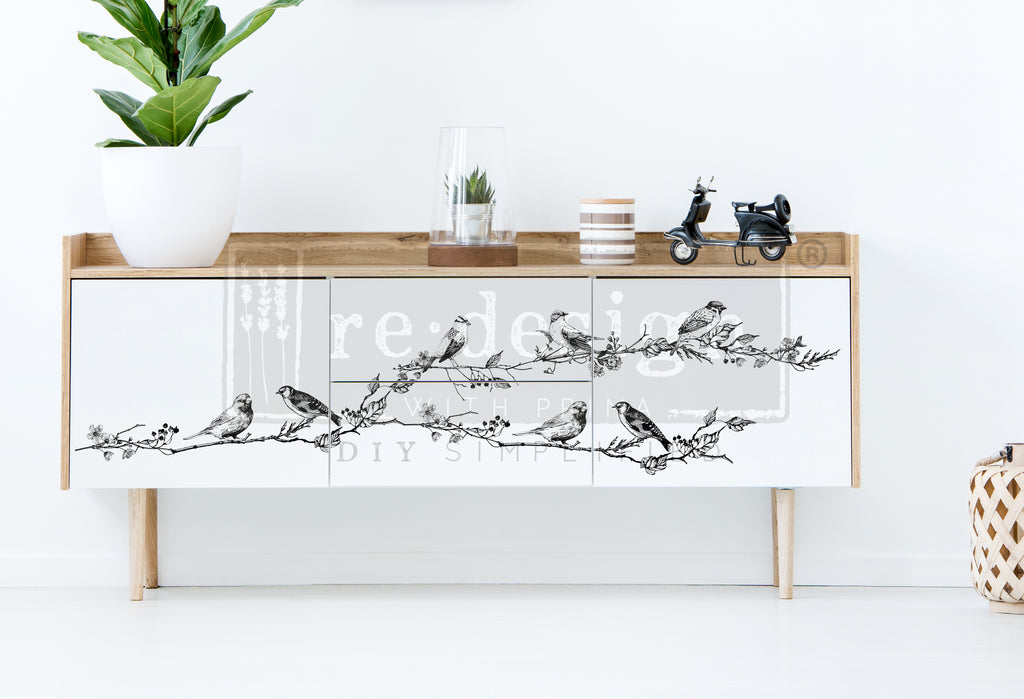 Redesign Decor Transfer - Birds & Berries