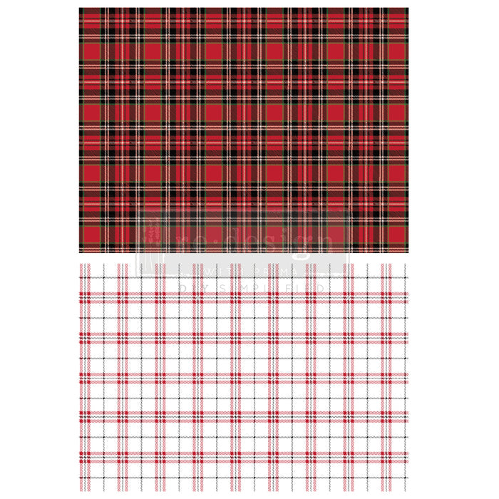 Redesign Decor Transfer - Gingham Red