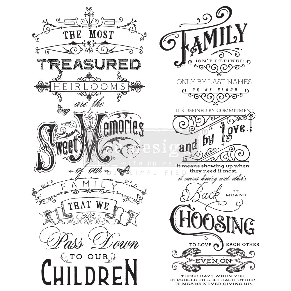 Redesign Decor Transfer - Family Heirlooms