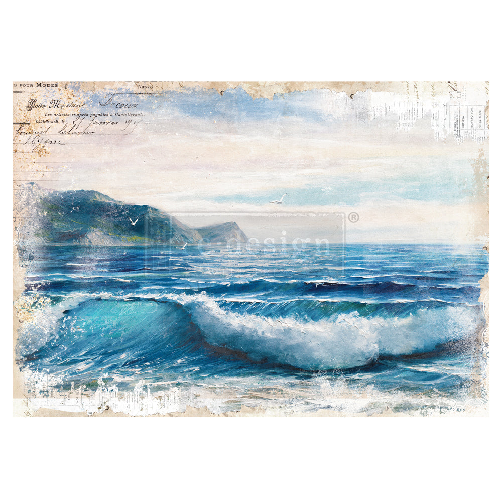 Redesign Decor Transfer - Blue Wave