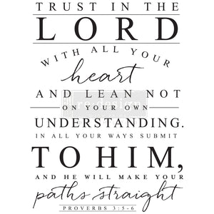 Redesign Decor Transfer - Trust In The Lord