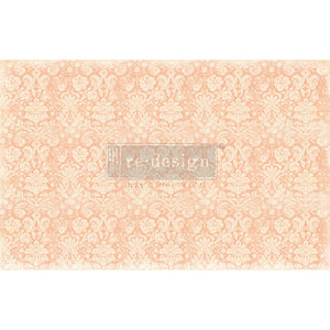 Redesign Decoupage Decor Tissue Paper - Peach Damask