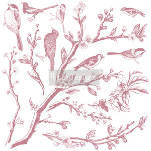 Redesign Decor Clear-Cling Stamps - Springtime