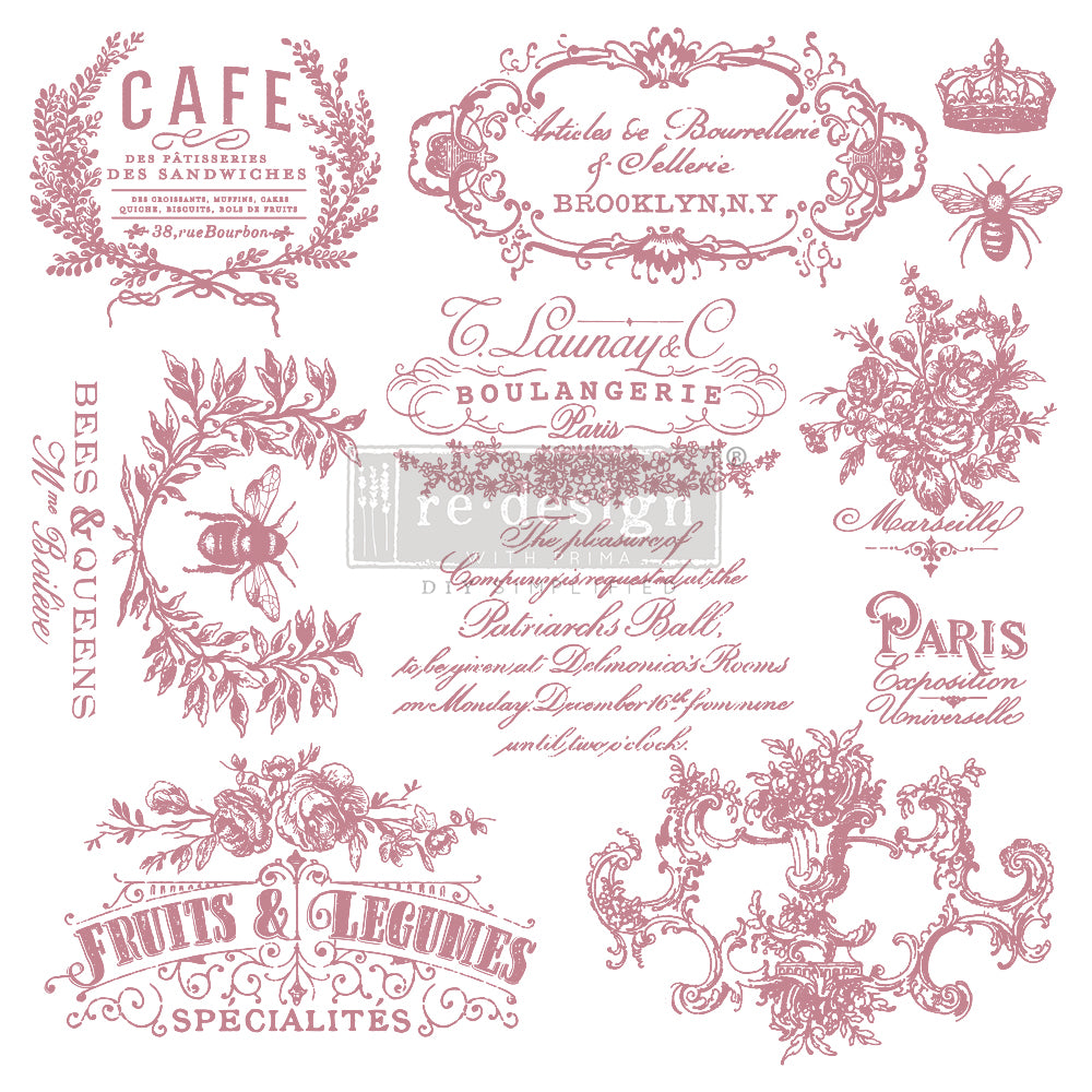 Redesign Decor Clear-Cling Stamps - I See Paris