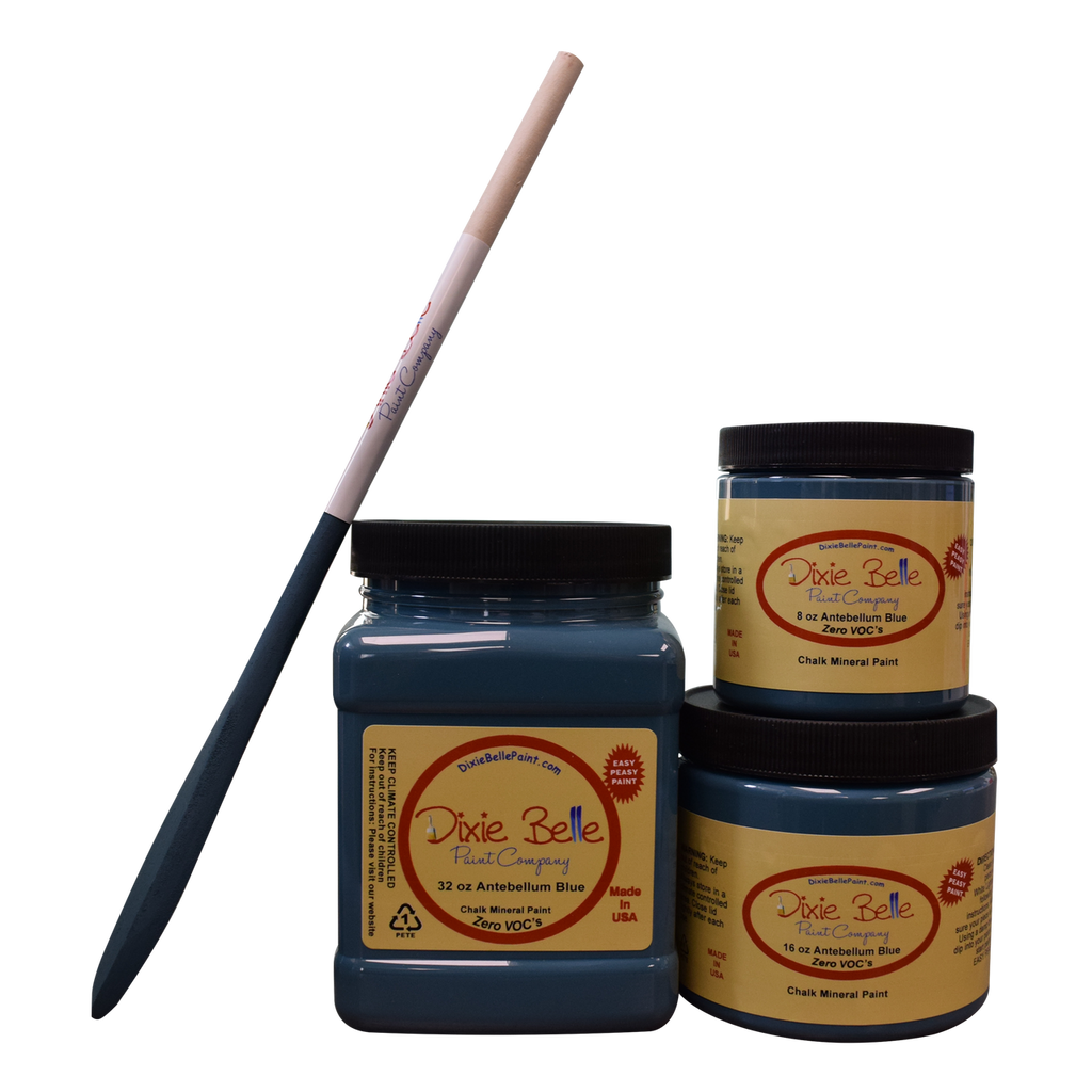 Antebellum Blue Chalk Mineral Paint - Dixie Belle Paint