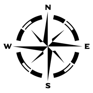 Stencil - Compass Rose - Dixie Belle Paint