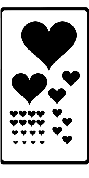 Stencil  - Heart - various sizes - Dixie Belle Paint