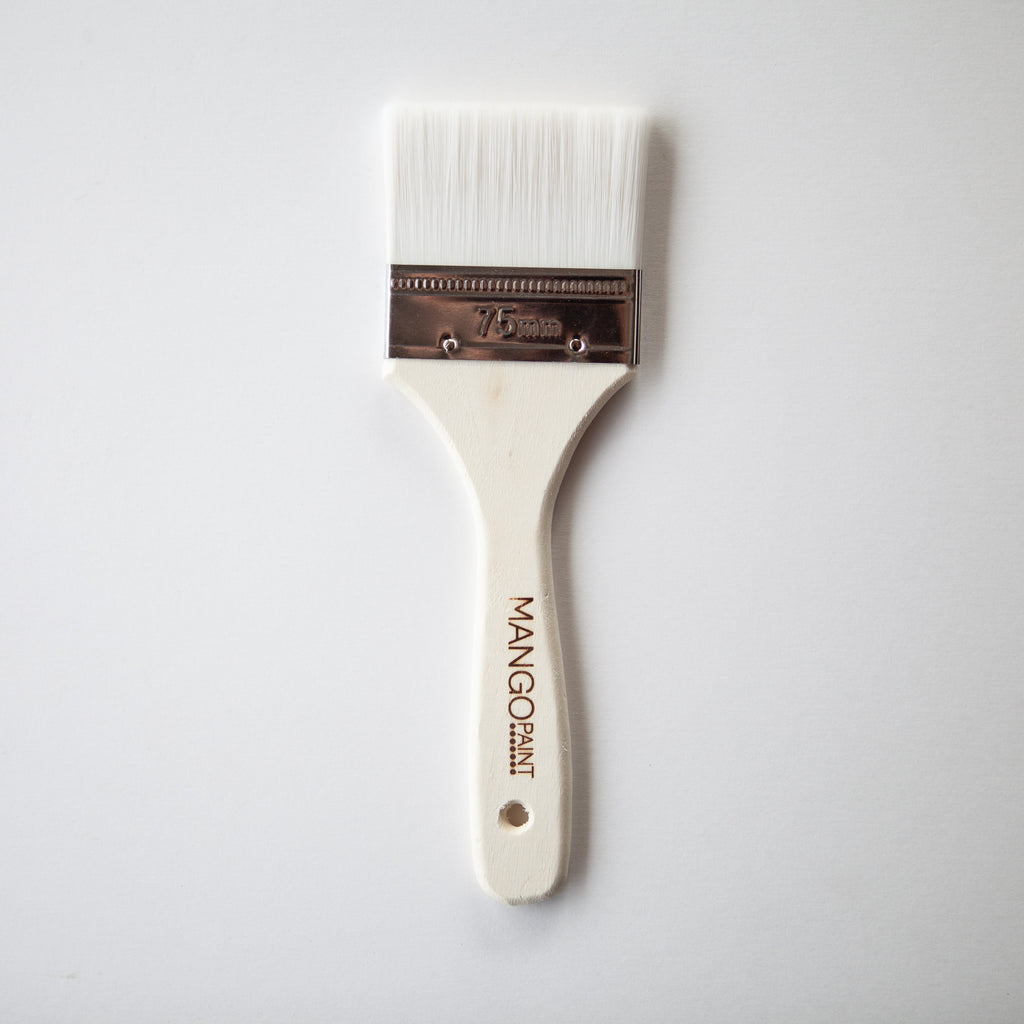 "Ultra Soft 3"" Flat Paint Brush - Mango Paint"