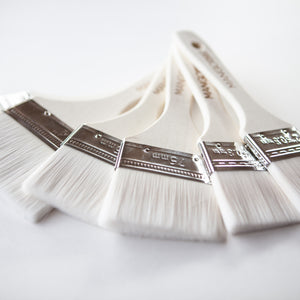 "Ultra Soft 4"" Flat Paint Brush - Mango Paint"