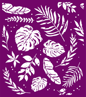 Botanical Silkscreen Stencil Package - Belles And Whistles