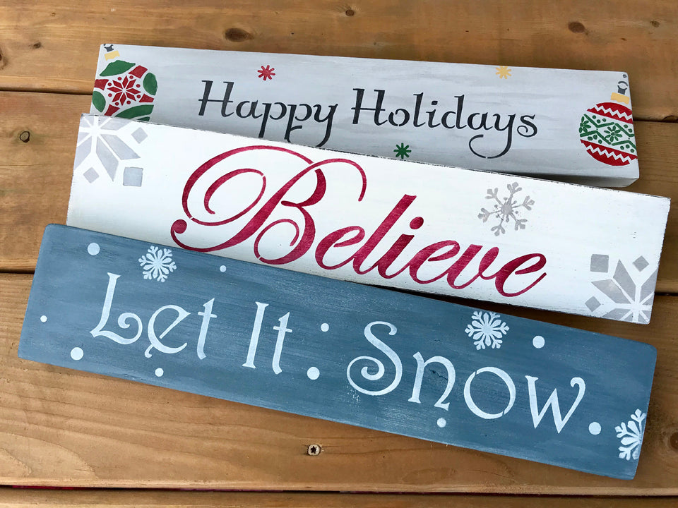 Trio of Stand-Alone Wooden Signs – Nov 22, 2018