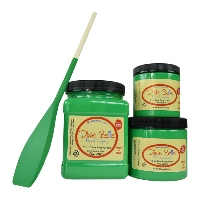 Tree Frog Green Chalk Mineral Paint - Dixie Belle Paint