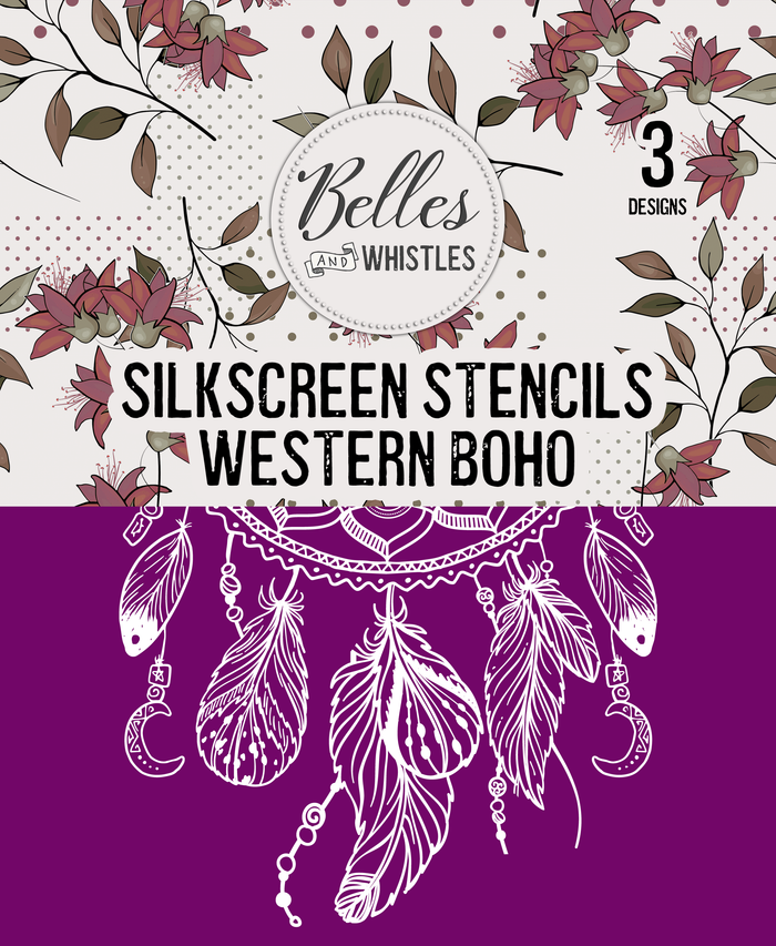 Western Boho Silkscreen Stencil Package - Belles And Whistles