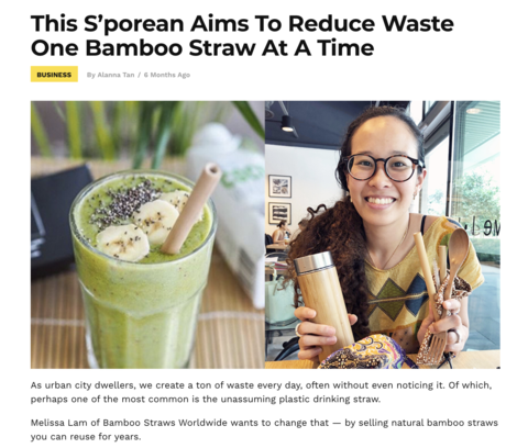 YP.sg: This S'porean Aims To Reduce Waste One Bamboo Straw At A Time