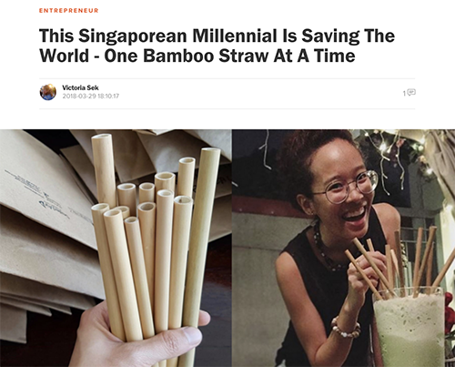 Vulcan Post: This Singaporean Millennial Is Saving The World - One Bamboo Straw At A Time