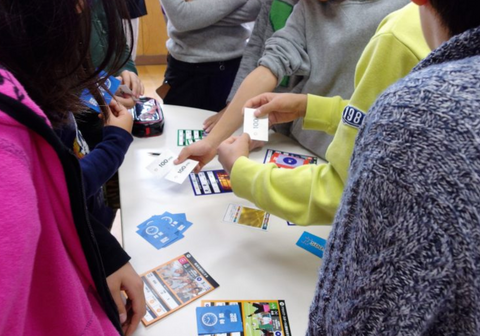 The game being played at a school in Japan.