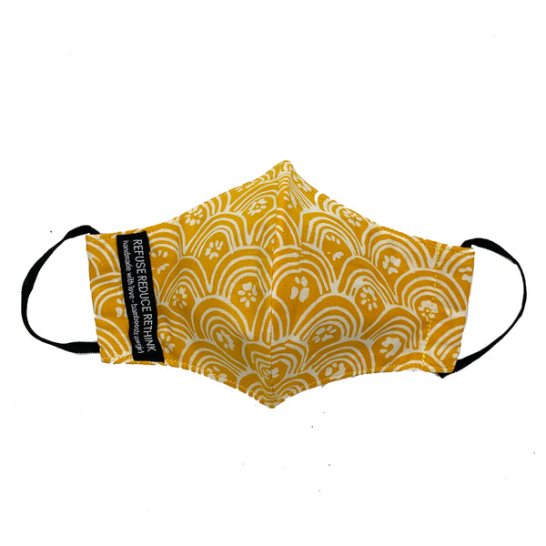 Batik Face Mask (Yellow Rainbow) (Regular size)