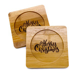 Bamboo Christmas Coasters