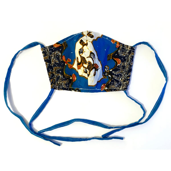 NEW! Batik Print Cloth Face Mask & Filter