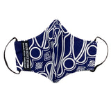 Batik Face Mask (Navy Geometric) (Regular size)