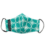 Batik Face Mask (Turquoise Kawung) (Regular size)