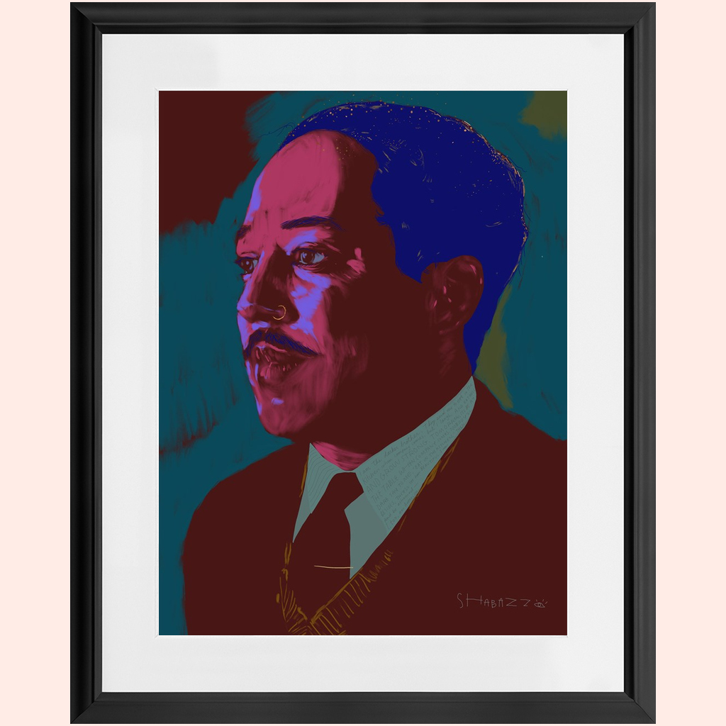 "Framed: ""Langston for the future"" by Shabazz Larkin"