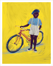 Load image into Gallery viewer, Boy with Bike Art Print