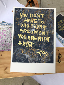 God: You Don't Have To Win Every Argument