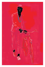 Load image into Gallery viewer, Red Bike Art Print