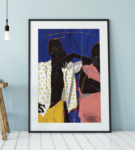 Lean On Me Art Print