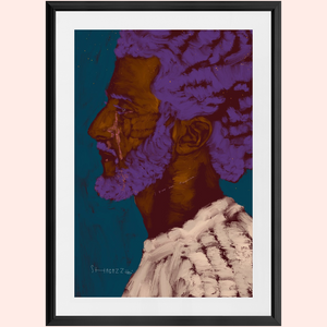 Crying Kaepernick by Shabazz Larkin (Framed