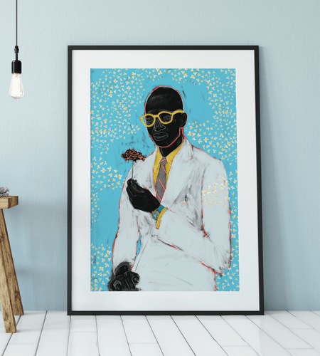 Fragile Black Man Art Print