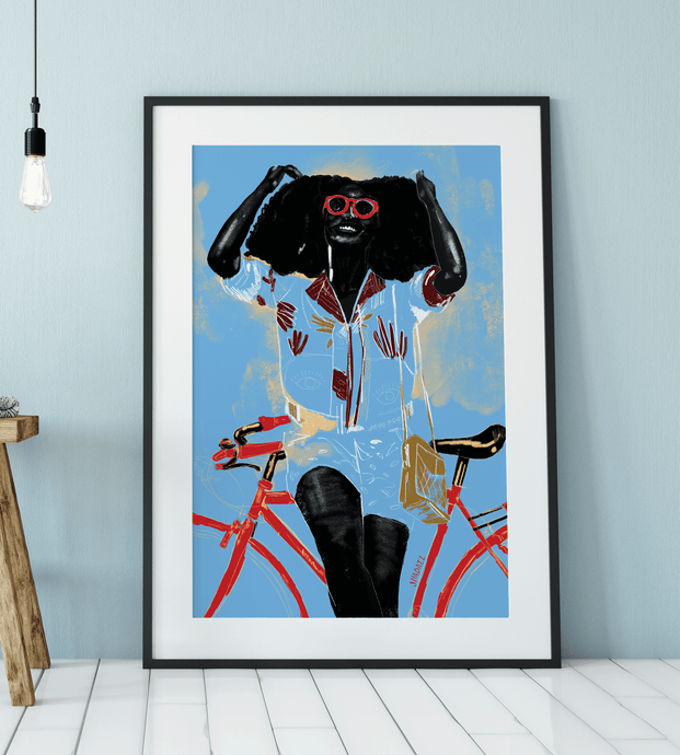 Shine on Bike Art Print