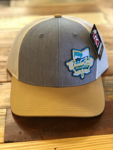 Trucker Hat - Heather Grey/Birch/Amber Gold