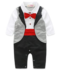 gentleman baby new style short sleeve wedding and party baby boys clothes cut rompers new born clothes