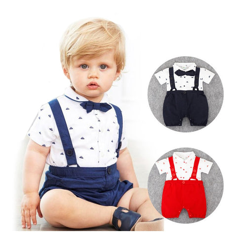 New Born Baby Boy Clothes Bow Tie Baby Girls Clothing Gentleman Infant Costume Toddlers Jumpsuits Ropa Bebes 2018 Baby Boy Romper