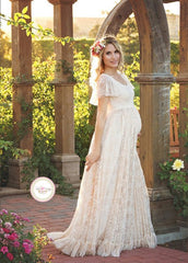 White Skirt Maternity Lace