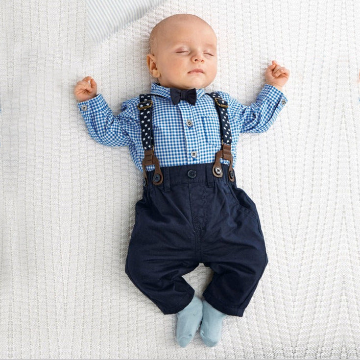 New Born Baby Boy Clothes Bow Tie Baby Girls Clothing Gentleman Infant Costume Toddler Jumpsuits Ropa Bebes 2018 Baby Boy Romper