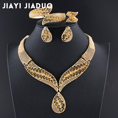 Beads jewelry sets Gold color Necklace