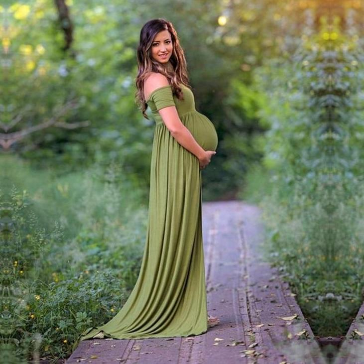 Trendy Maternity Gown