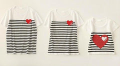 Girl Short Sleeve Striped T-shirt
