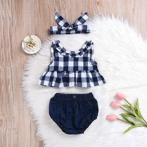 Sleeveless Plaid T-Shirt