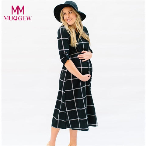Casual Nursing Tie Long Sleeves Plaid
