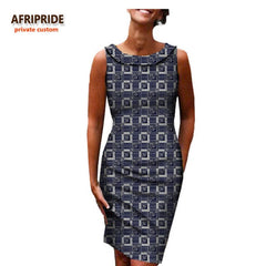 Neckline cotton dress