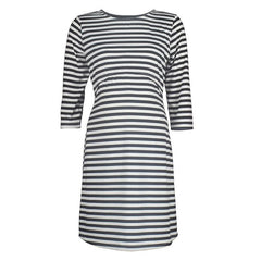 Half Sleeve Striped Casual Dress